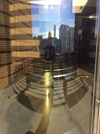 Selfie Curved Glass Artwork SFMOMA Upper Floor sunny Winter morning Reflections And Refraction curved light Sunlight Concrete Floor EyeEm Best Shots Shadow Adult One Person I Pad Photograph Dec 2016 Double Exposure Full Length Day Sunny Winter Sun Round Shapes Light Dispersion USA Curved Reflections Of City Life And Architecture
