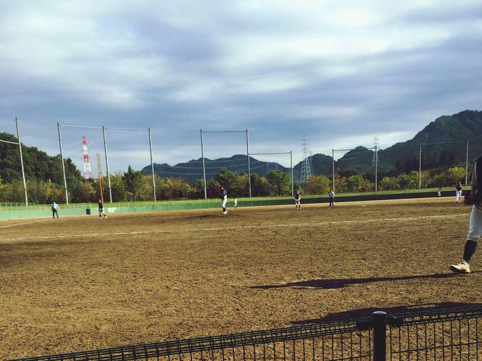 Watching Baseball Wewon4-0 Congratulation