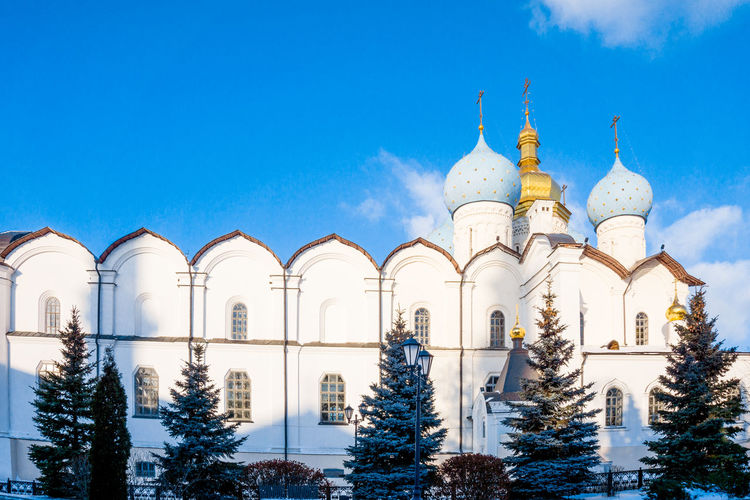 Kazan Architecture Building Exterior Built Structure Cold Temperature Day Dome Kasan Low Angle View No People Outdoors Place Of Worship Religion Sky Snow Spirituality Travel Destinations Tree