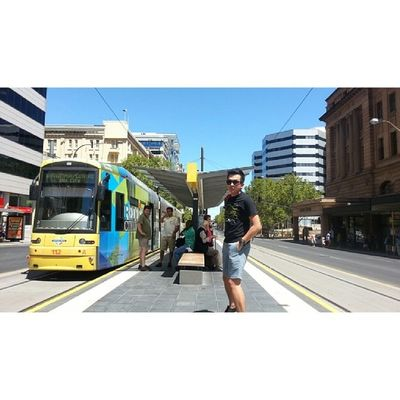 Selfie 'bak hang' at Adelaide Railway Station. Adelaide Aussie Australia Malaysian