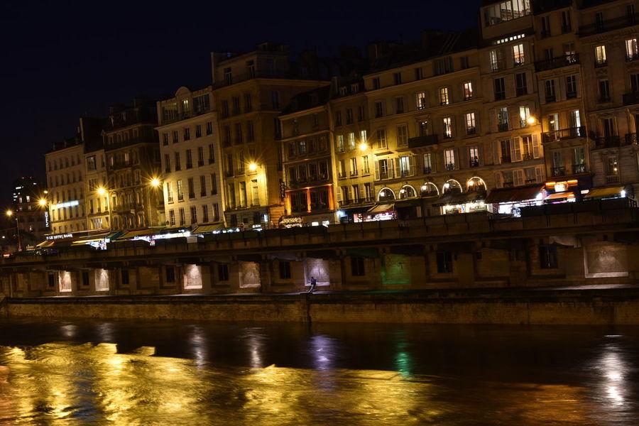 Premium Collection Premium River Seine Paris Nightphotography Along The Riverside Night Architecture Illuminated Building Exterior Cityscape City Travel Destinations Outdoors No People