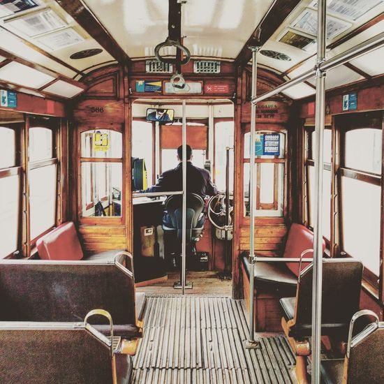 Old tram Window Indoors  Train - Vehicle No People Day
