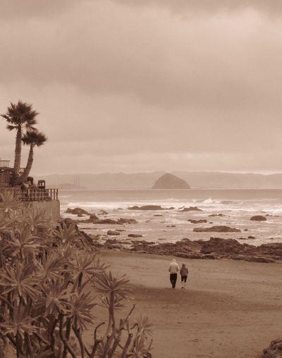 Cayucos Morro Bay Morro Rock Beach Ocean Together Walk On The Beach  Enjoying Life Freedom Love Free Nature Travel Landscape