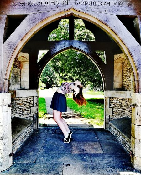 Dancer Dancer Poise  Supple Young Woman Full Length Arch Architecture Arched