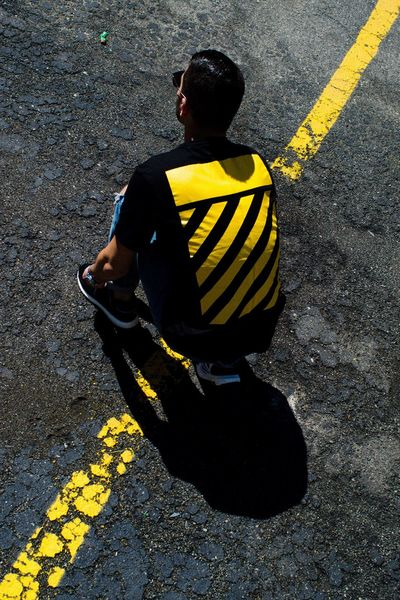 Paint The Town Yellow Omar (instagram: @iamjosway) Yellow Real People One Person Street Casual Clothing Road Lifestyles Outdoors Rear View Day Leisure Activity People Detroit DetroitMichigan Motorcityshooters Model Modeling Models Be. Ready. Visual Creativity