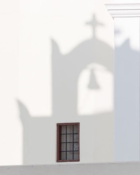 Architecture Built Structure Building Exterior Window Whitewashed White Color Religion Day No People Place Of Worship Shadow Bell Tower Outdoors Close-up Spirituality Santorini, Greece The Week On EyeEm EyeEmNewHere Santorini