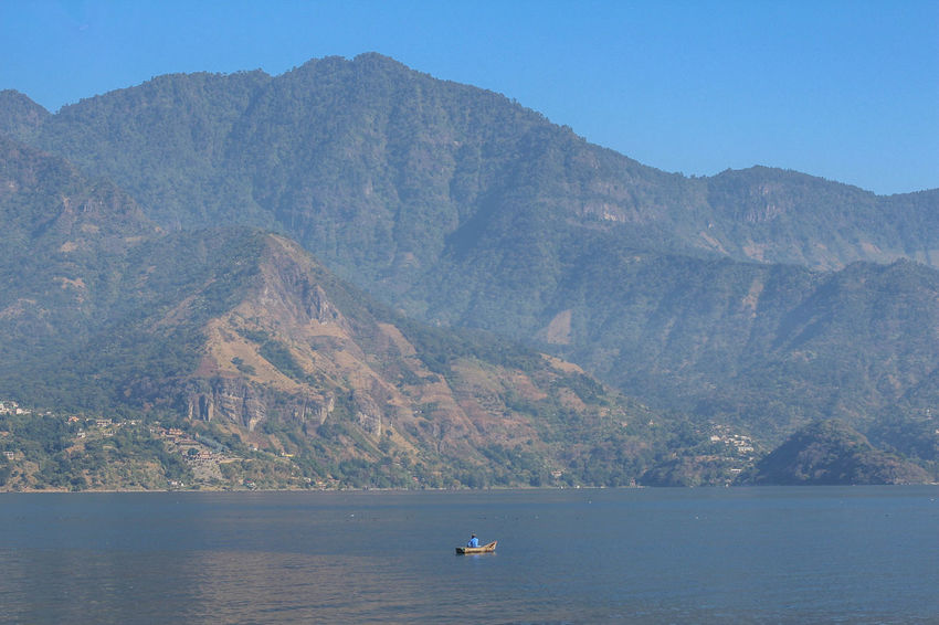 The volcanic lake Atitlan gathers people from all around the world with its beauty. Countryside Exploring Geology Guatemala Lago Atitlán Landscape Mountain Range Scenics Tranquility