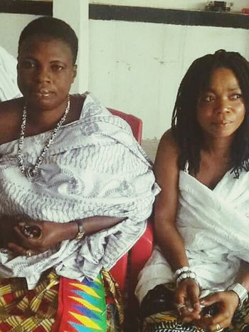Akan Traditional Priestesses. Kumasi, Ghana West Africa... Women Togetherness People Two People Young Women Only Women Day Akan Traditional Culture Kumasi Ghana Priest Priestess Adult