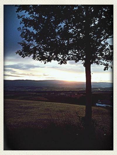Sonnenuntergang hinter dem Jura First Eyeem Photo