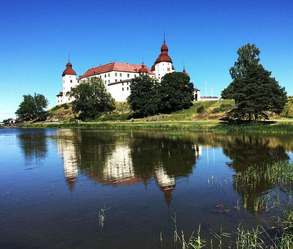 Summer Läckö Slott Sweden Building Exterior Built Structure Sky Religion Water