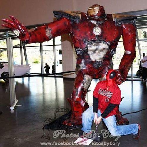 I felt it move a little Grandrapidscomiccon Hulkbuster Deadpool