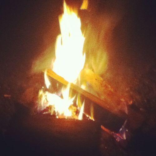 The baby fire I made last night. Babyfire Flames Fire Nightfishing fishing latenight doubletap like