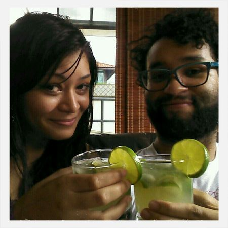 Recipe for a good afternoon: your best Friend and a jar of Caipirinha . :) Brazil