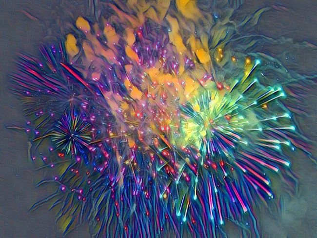 Art. Abstract. Abstrait. Photomontage. Effect. Huawei. Fireworks. 14 juillet