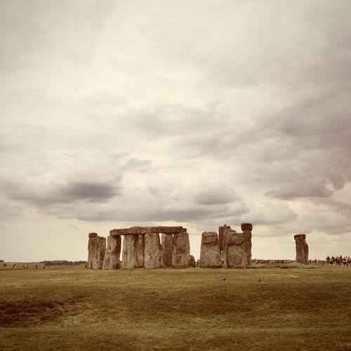 Stonehenge Summer Traveling Holiday England & Scotland Sightseeing Old Buildings Architecture Stones England Historical Sights