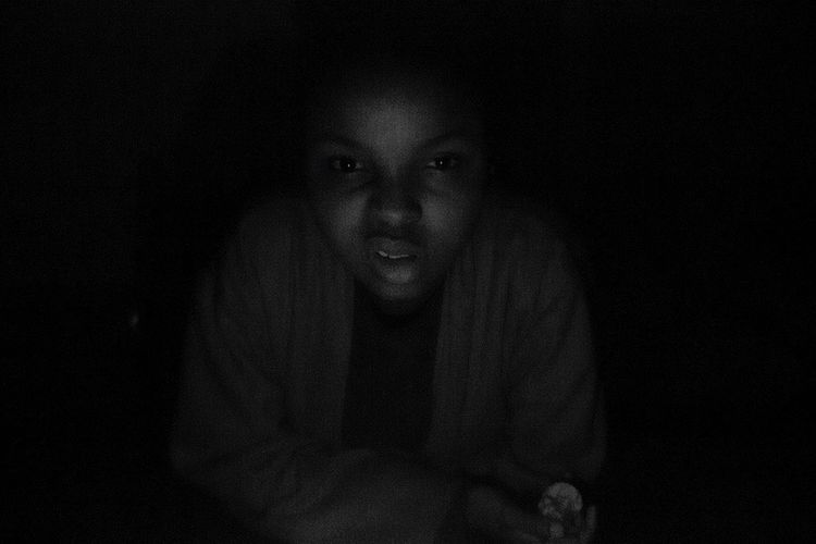 Playing paranormal activity with lil sis