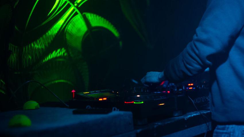 Close-up Club Dj Dj Human Body Part Human Hand Illuminated Indoors  Music Night Nightclub One Person People Real People Technology