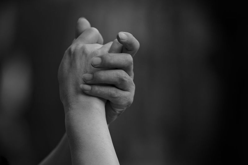 Black & White Black And White Bonding Close-up Focus On Foreground Human Body Part Human Hand Real People Togetherness Unity Fresh On Market 2017