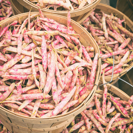 Cranberry beans at the market with vintage effect Abundance Beans Close-up Cranberry Beans Day Food Food And Drink For Sale Freshness Healthy Eating Large Group Of Objects Market Market Stall No People Outdoors Retail