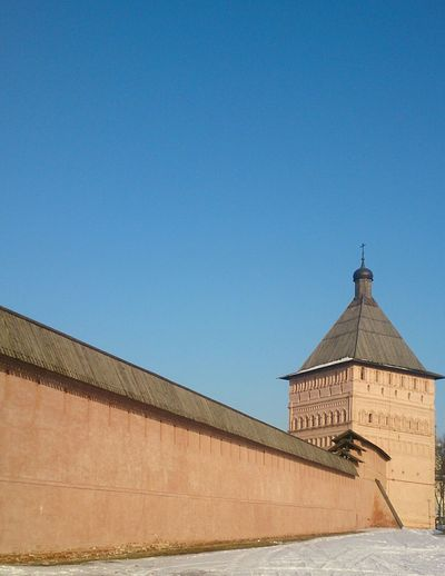 Башня и стена Спасо-Евфимиева монастыря. архитектура Церковь Architecture Church