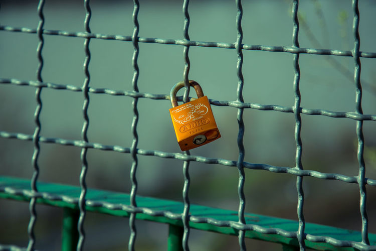 Love Love ♥ Good Morning Goodnight Good Times Germany Andernach Travel Destinations Travel Canon Canon_photos EyeEm Best Shots Eye4photography  EyeEm Gallery EyeEm Selects Sky Fence Padlock Chainlink Fence Metal Security Protection No People Outdoors Hanging Chain Day Close-up Prison