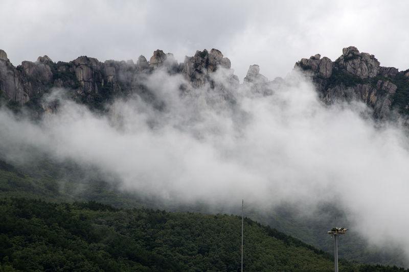cloudy Ulsanbawi at Seolak Mountain in Gangwondo, South Korea Cloud Cloudy Cloudy Day Gangwondo High Nature Seolak Mountain South Korea Cloud - Sky Clouds Mountain Mountain And Clouds Outdoor Outdoors Rocks Ulsanbawi
