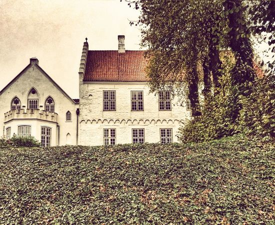 Countryside Old House History Autumn Denmark Hotel