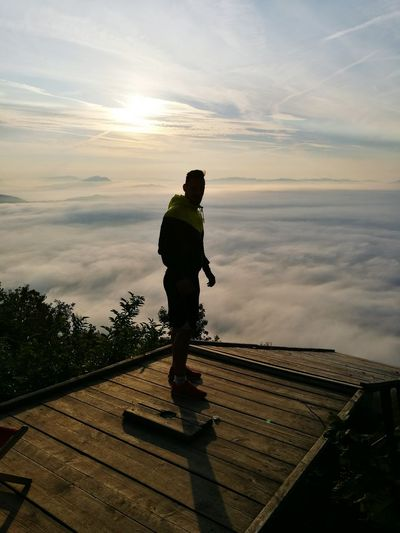 Sky Outdoors One Man Only Foggy Morning Beautiful Sunrise Smarnagora Exercise Time