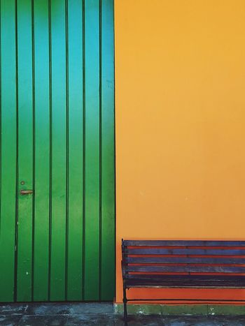 Closed Door Green Color Corrugated Iron Lines, Colors & Textures Bench Colors Of My City Architecture Simple Elegance Color Block Forms And Shapes Architectural Detail Simplicity Lines And Angles Minimalist Architecture Minimalism Perspective Neon Life Color Blockıng The Still Life Photographer - 2018 EyeEm Awards