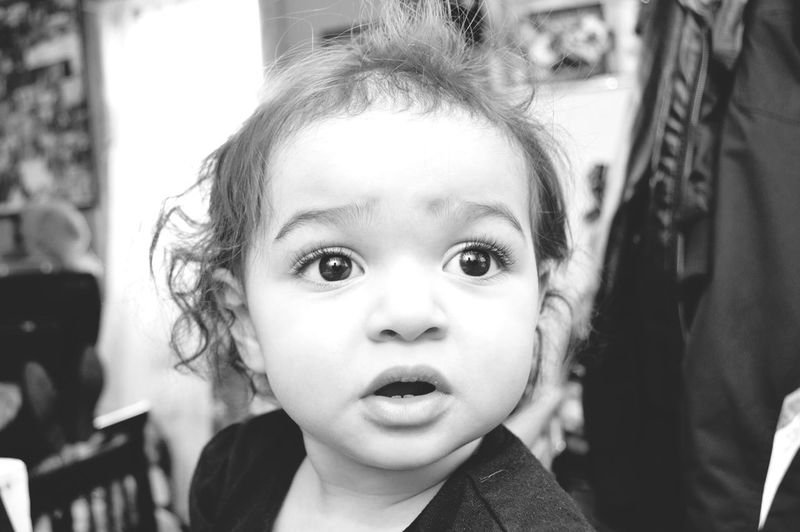 Child Oneyearold Girl Babies Childhood Innocence One Person Cute Real People Front View Focus On Foreground Headshot Babyhood Close-up Indoors