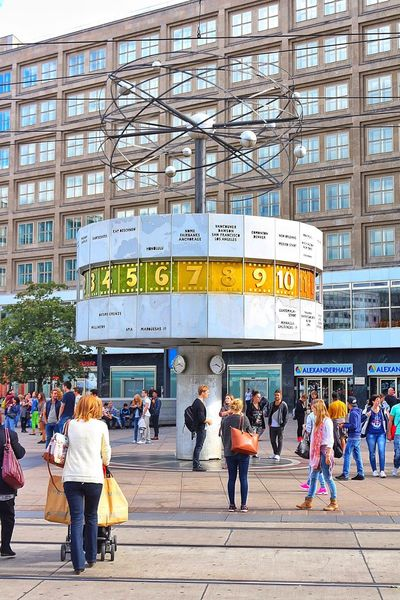 Berlin Alexanderplatz Clock People People Watching Check This Out Taking Photos