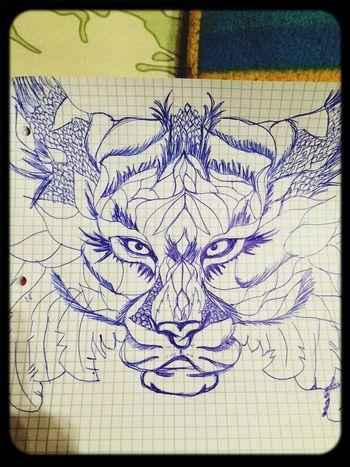 Painting Art Lion Amateur gestern abend mal wieder ein bisschen den kulli geschwungen ??