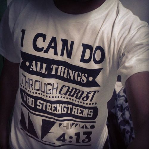 ..wear his word ..:P Philippians 4:13