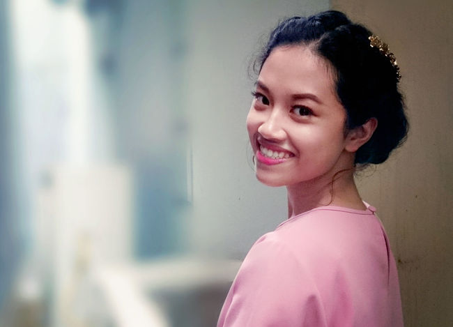 Every time smiling :) Beautiful Woman Black Hair Close-up Day Happiness Happiness Leisure Activity Lifestyles Looking At Camera One Person Outdoors People Portrait Real People Smiling Standing Vietnamese Young Adult Young Women Youth Of Today