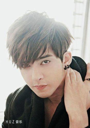 Hairstyle Piercings Sideburns Earring  Eyeliner Asian  White Fresh Fashion Photography
