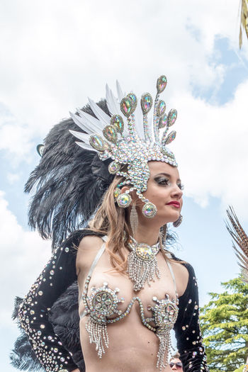 Carnaval des Percuterreux d'la Beauce Art Beauty Brasil Carnaval Carnival Close-up Cloud - Sky Cultures Day Etampes Fun Leisure Activity Lifestyles Low Angle View Multi Colored Outdoors Portrait Sky Women