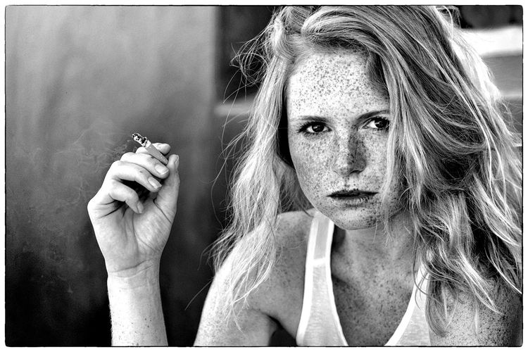 Beautiful Girl Portrait Women Human Face Adult One Person Young Adult Young Women People Close-upOne Woman Only Adults Only Human Body Part Day Monochrome Photography PortraitPhotography Monochrome Portrait MonochromePhotography Black & White Black And White Photography Smoking The Portraitist - 2017 EyeEm Awards The Portraitist - 2017 EyeEm Awards EyeEm Selects Black And White Friday