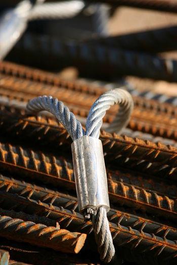 Close-Up Of Metallic Rods