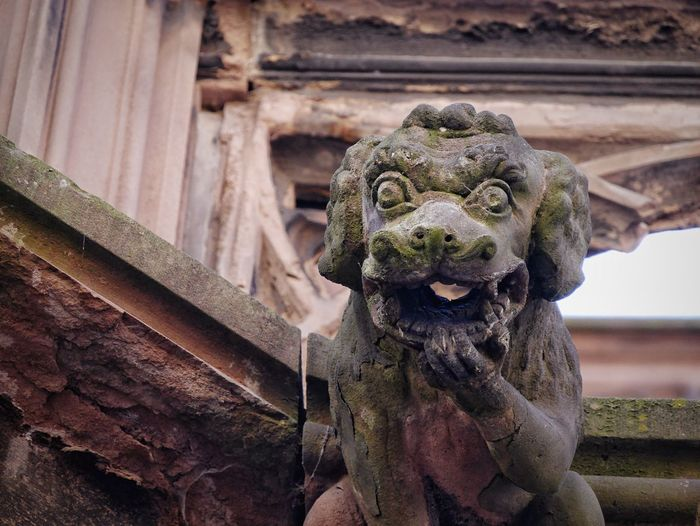 Close-Up Of Old Monster Statue