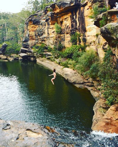 it's a long way down - and the only way down into the Mermaid Pools! 💙💦💦 The Great Outdoors - 2016 EyeEm Awards Check This Out Enjoying Life Eyeemphotography Travel Destinations Eye4photography  Adventure Adventure Buddies Travelgram Halfcenturytraveller EyeEmBestPics Travel Photography EyeEm Best Shots EyeEm Gallery Eyeemgallery Nature Photography Nature On Your Doorstep Travelphotography Adventure Club