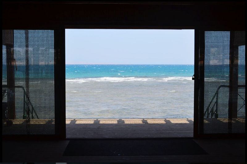 Sea Window Water Horizon Over Water Beach Indoors  Nature Day Sky Scenics No People египет EyeEm Gallery EyeEm Taken By Me Taking Photos Lovely Weather Natural Love Natural Beauty 💜☁💙☁💚☁💛☁ ❤❤❤
