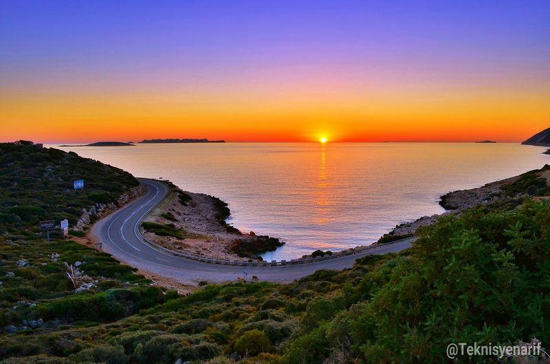 Gemi batıran koyu günbatımı kaş gökseki Gemibatıran Koyu Gökseki Kas Sunset Günbatımı Road