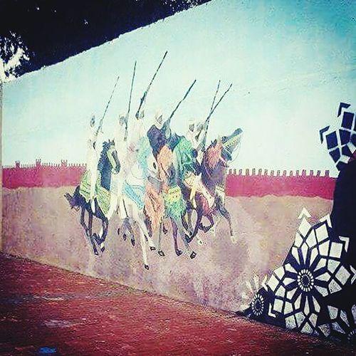Culture Horses Marocaine Culture Painted Image Sky Close-up Street Art Art