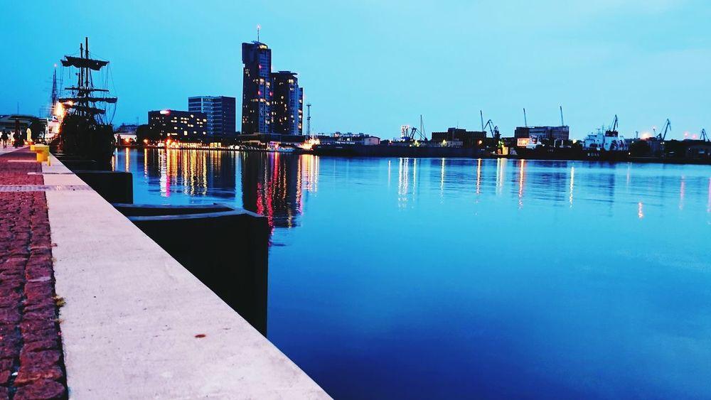 Gdynia Holiday After Sunset Nightsky Harbour Seatowers Mojemiasto Poland Pomerania