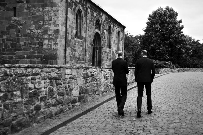 They way we go... Architecture Brotherhood Building Exterior Day Footpath Full Length In Front Of Life In Motion Monochrome Photography One Way Suit Style Paving Stone Person Rear View Sky Streetphotography Talking The Way Forward Together Togetherness Walk Wall Way To Go Home Church Let's Go. Together. Black And White Friday Business Stories Human Connection Streetwise Photography British Culture