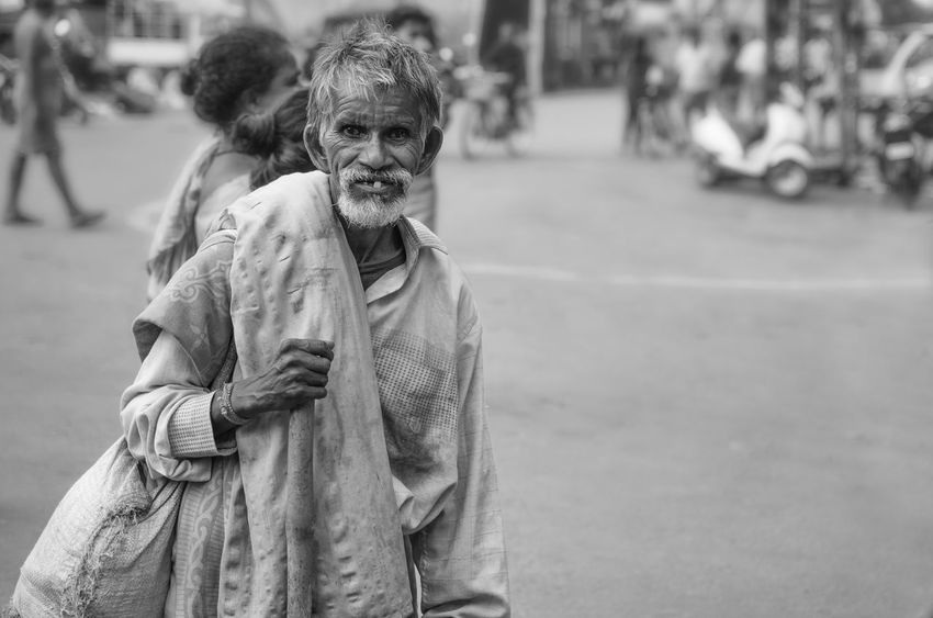 Person Facial Expression Poverty No Hope Destitute Streets No Homes Human Condition Homeless Man Oldman Monochrome