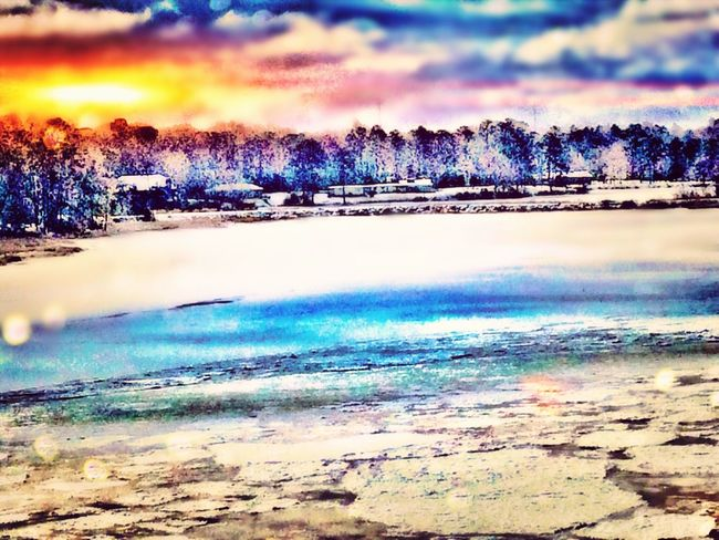 The Places I've Been Today a huge Frozen Lake wow what a sight