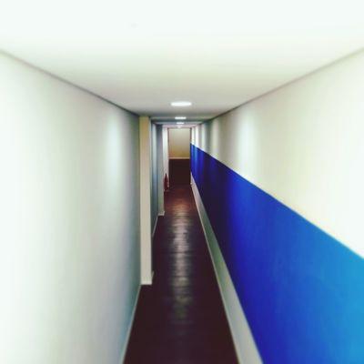 Illuminated Corridor Architecture Built Structure