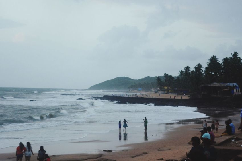 Beach People People Enjoying Beach Photography Sea Water Nature Sky Scenics Goa Beach Life