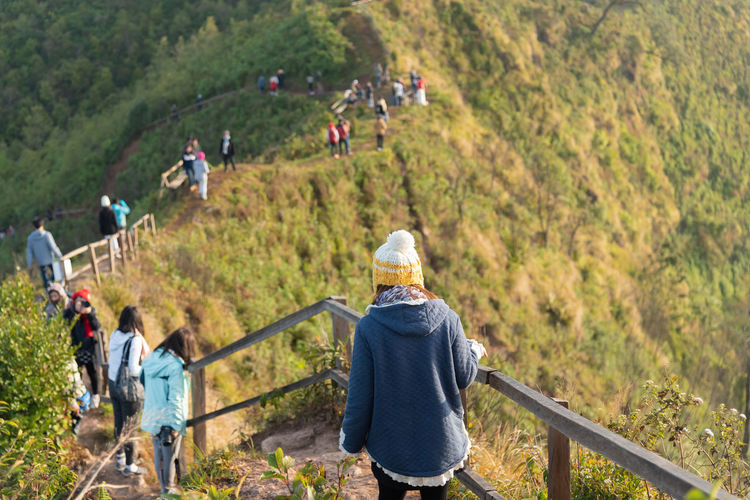 Activity Adult Adventure ASIA Background Backpack Beautiful Blue Forest Grass Green Group Happy Hike Hiker Hiking Hill Landscape Leisure Lifestyle Man Mountain Natural Nature Outdoor Outdoors Park People person Rock Scenic Sky Sport Summer Tourism Tourist Travel Tree Trekking Vacation View Woman Young